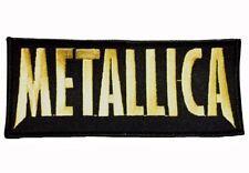 METALLICA - Gold Logo - gestickt - Aufnäher / Patch - Neu #4714