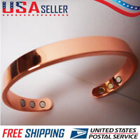 Pure Copper Magnetic Bracelet Men Women Arthritis Pain 6 magnets Cuff New
