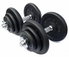 50kg Cast Iron Dumbbell Set Weights Training Home Gym Biceps Triceps Bars