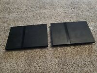 Sony PlayStation 2 Slim Black Consoles ONLY Parts or Repair SCPH-75001 LOT OF 2