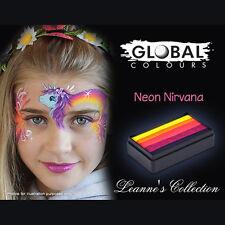 Global 30g Neon Nirvana Fun Stroke Rainbow Professional Face Paint Party UV Glow