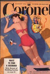 1949 Coronet August - Live longer in Canada; Tucson Teenager's Bank;Husband Hunt