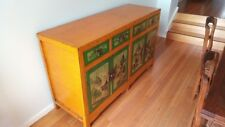 Chinese Antique Sideboard, brilliant colouring with four drawers and doors