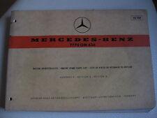 Mercedes Ersatzteilliste ,W120, OM 636,180D, Bootsmotor, Schiffsmotor,Oldtimer,