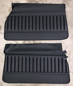 1971 1972 Buick GS Grand Sport Front Door Panels Unassembled Black PUI (IN STK)