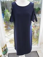 Ronni Nicole Cold Shoulder Angel Sleeve Scuba Shift Dress Navy Size 16 BNWT