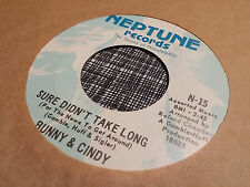 Bunny & Cindy 45 Sure Didn't Take Long/We're Only Human Rare Northern Soul VG++