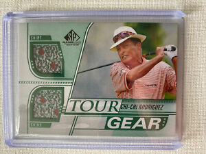 2021 CHI-CHI RODRIGUEZ UPPER DECK SP GAME USED GOLF TOUR GEAR SHIRT RELIC ⛳️ HOF