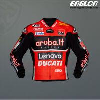 Chaz Davies Ducati Aruba.it SBK 2020 Leather Race Jacket