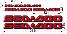 SEA-DOO-RED-3D-LOGO-3x26-DECAL-SET-GRAPHIC-STICKER-PACKAGE, REPLACEMENT