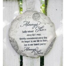 "Jozie B ""Always There"" -9 3/4 Diameter Resin-Stepping Stone/ Eyelet for hanging"
