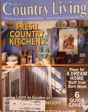 COUNTRY LIVING MAGAZINE~APRIL 1997~VINTAGE~FRESH COUNTRY KITCHENS~