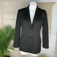 Fabrizio Gianni Women's 2 Button Fitted Black Lined Blazer Size 6