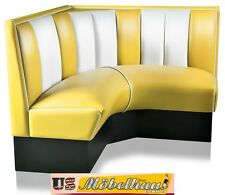 HW-120/120-Y American Diner Bench Corner Seat Furniture 50´S Retro USA Style
