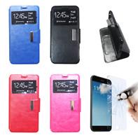 Custodia Pelle Libro Portafoglio Per Xiaomi Mi A2 Lite + Protezione Opzionale