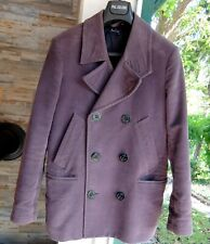 PAUL SMITH JACKE M jacket coat grey purple cotton military marine