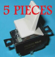 5 pieces Gray DPST 15A 125VAC Toggle Switch - HEAVY DUTY 10A 3/4HP 250VAC, Large