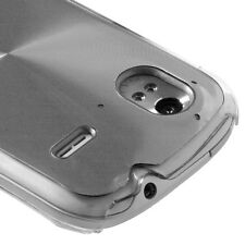 for HTC Amaze 4G (T-Mobile) - Silver Acrylic Metal Aluminum Hard Back Case Cover
