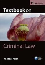 Textbook on Criminal Law by Michael J. Allen (Paperback, 2011) BRAND NEW