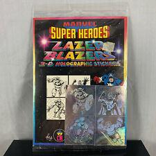 1983 MARVEL SUPER HEROES COLORFORMS LAZER BLAZERS 3D HOLOGRAM STICKER UNOPENED