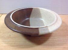 Fabrik Agate Pass Brown Rimmed Soup Cereal Bowl Jim McBride Seattle Stoneware