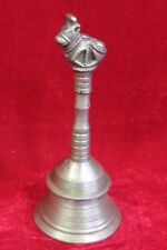 Brass Nandi Hand Bell Old Vintage Antique Rare Collectible PP-10