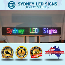 FULL COLOUR LED MESSAGE SCROLLING SIGN OUTDOOR WATERPROOF Various Sizes by 32cm