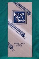 Nickel Plate Road - Timetable - Apr. 30, 1961