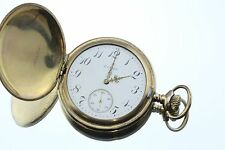 Antique 1910 Elgin Full Hunter Hand Chased Gold Filled Pocket Watch Size 16
