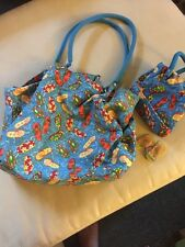 Flip Flop Printed Tote Bag with Matching Mini Tote