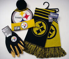 """Pittsburgh Steelers """"NFL"""" Gift Set (Cap-Scarf-Gloves) Licensed Authentics (WZRS)"""