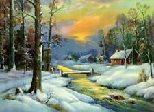 Wm Thompson Cabin Bridge Stream Winter 2
