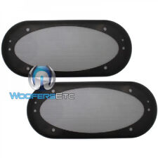 """(2) UNIVERSAL 4""""x10"""" SPEAKER COAXIAL COMPONENT PROTECTIVE GRILLS COVERS NEW PAIR"""