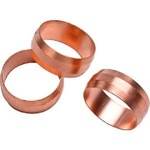 NEW 35mm compression copper olives pack of 10, plumbing, DIY, water, UK seller