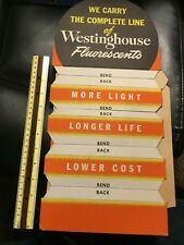 1950'S ? Westinghouse Lights Easelback Sign S General Hardware Store Display