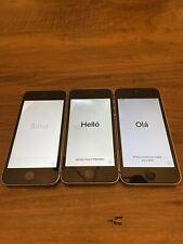 3 Apple iPhone SE 1st Gen 128 GSM + CDMA A1662 Space Gray Lot
