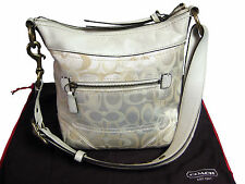 COACH Optic Signature Canvas / Leather Duffel Handbag Purse, Style #10377