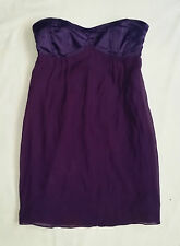 EX CON Sportsgirl Size 10 Dress Silk Strapless Party Club Purple Event Sleeveles