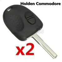 2x For Holden Commodore VS VX VY VZ WH WK 2 Button Car Remote Key Fob Case