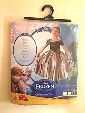 Rubie's Official Frozen Coronation Anna Girl's Fancy Dress Disney 7-8 yrs Kids