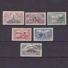 TURKEY 1914, Sc# 277-282, CV $23, part set, architecture, ships, NG/MH/Used