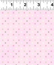 INDOVINA quanto ti amo rosa con pois tessuto FQ + più 100% COTONE