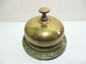 BELL'S WHISKY BRASS ADVERTISING BAR BELL - LICENSED VICTUALLERS PRES. YEAR 1986