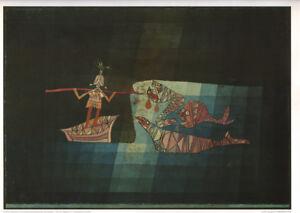 PAUL KLEE - BATTLE SCENE FROM THE SEAFARER * VERY RARE PRINT 1990