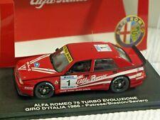 M4 ALFA ROMEO 75 TURBO EVOLUZIONE GIRO ITALIA 1988 PATRESE #1 OP 1/43 RARE !