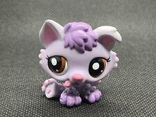Littlest Pet Shop LPS Authentic 1752 Purple Baby Husky Brown Eyes Puppy Dog