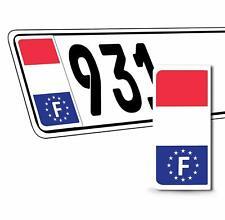 2 x Vinyle Plaque D'Immatriculation Adhésif Européen Badge Drapeau France QV 28