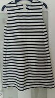 Zara Knitwear Black And White Striped Mini Dress Pockets Size S
