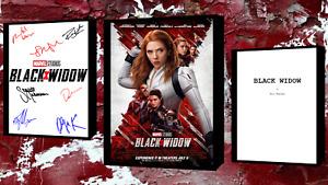 Black Widow Script/Screenplay Movie Poster Autograph Signed Print