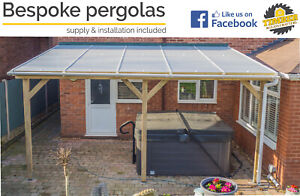 Timber supported lean to roof EVA, pergola, carport - VARIOUS SIZES - QUOTES